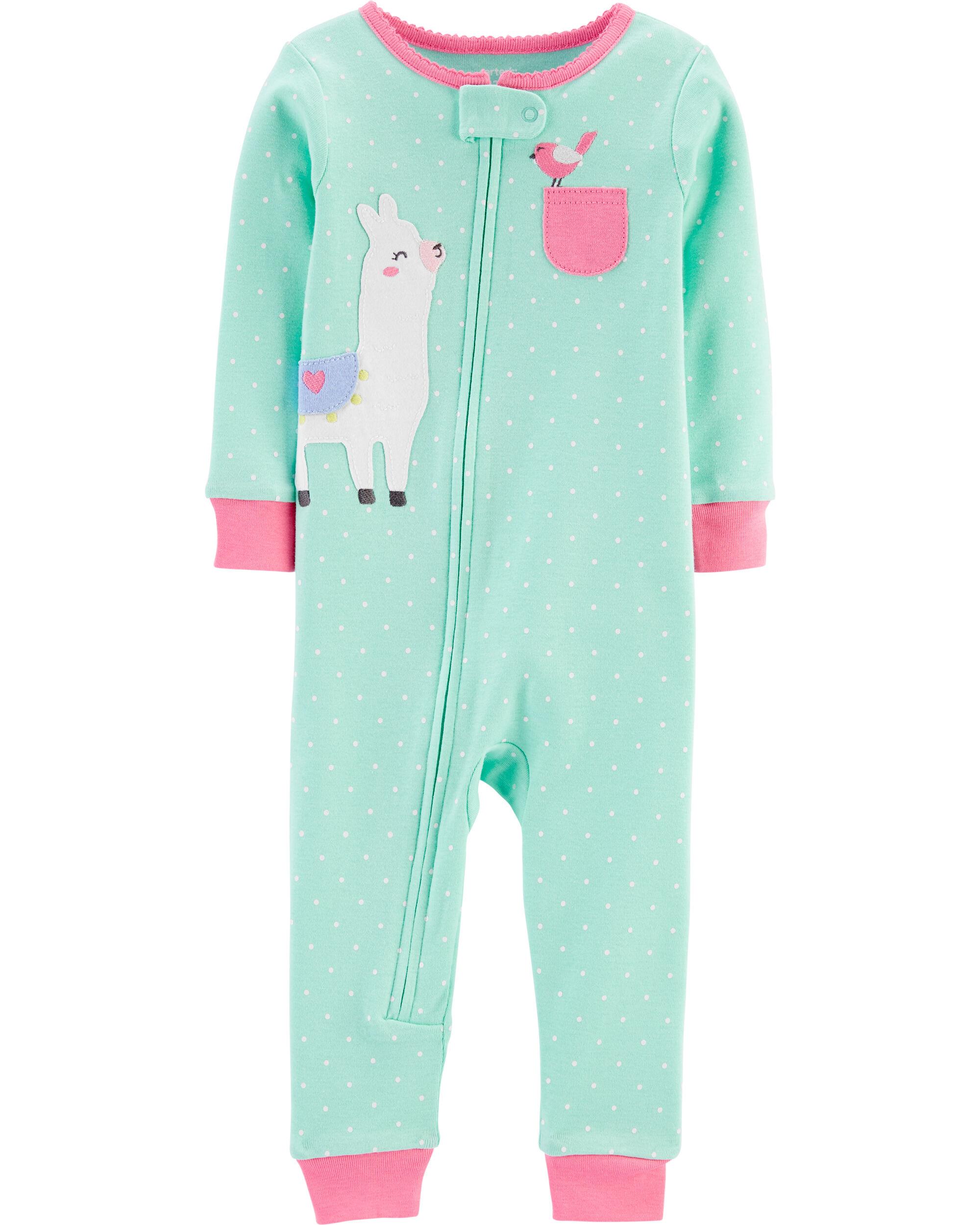 NWT Carters Flamingo Toddler Girls Cotton Footless Sleeper Romper Pajamas