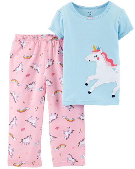 36da82be6f61 2-Piece Unicorn Cotton   Poly PJs