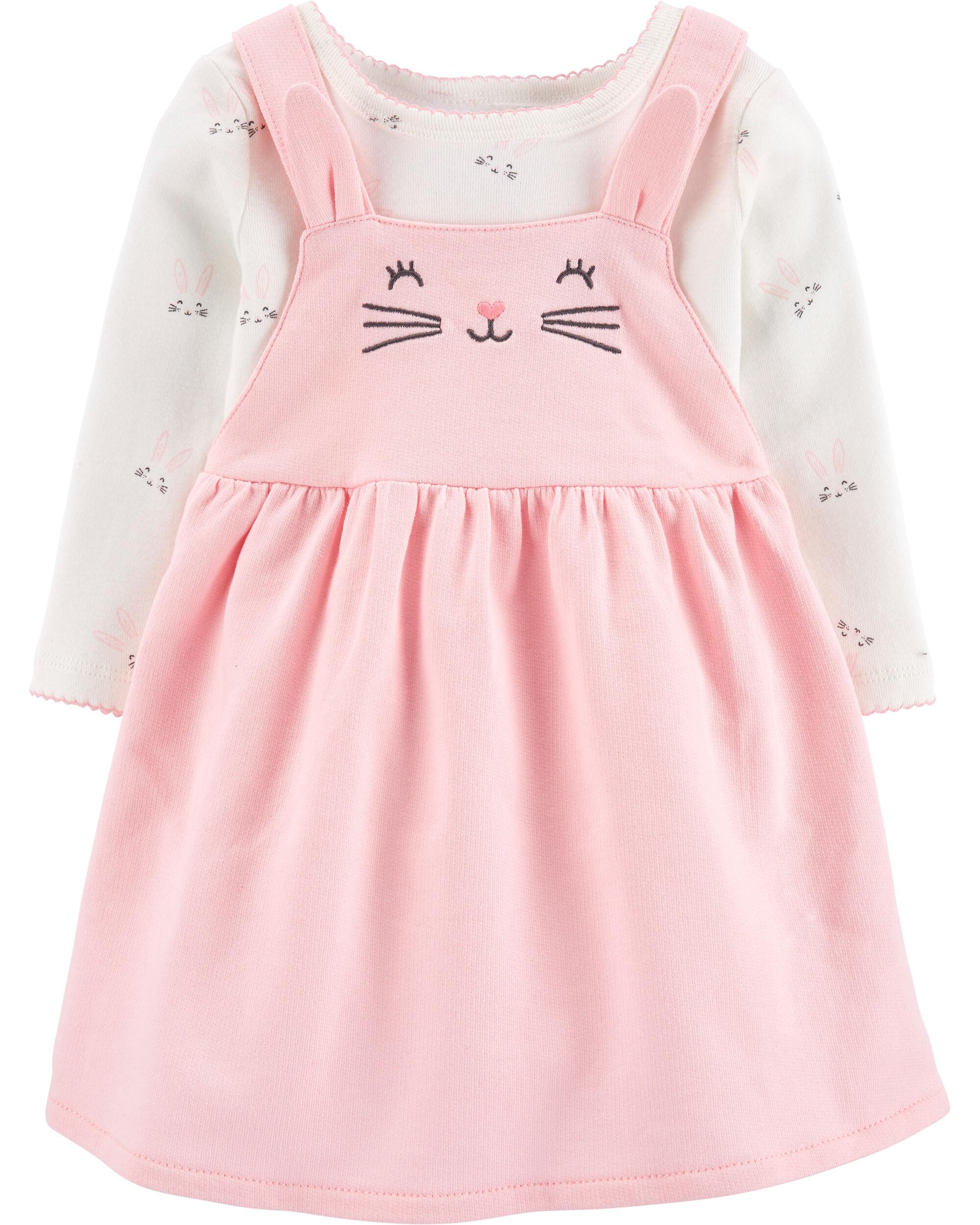 2-Piece Easter Bunny Bodysuit & Skirtall Set