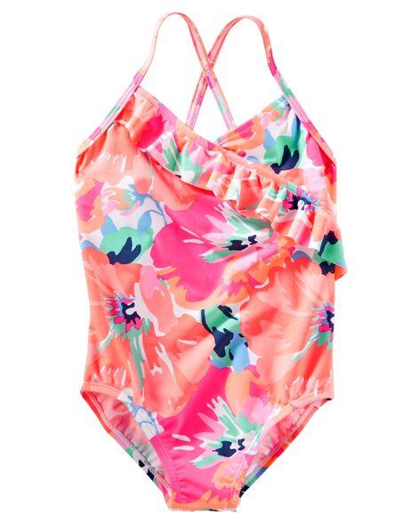b6c48e644d Kid Girl OshKosh Ruffle Floral Swimsuit | OshKosh.com