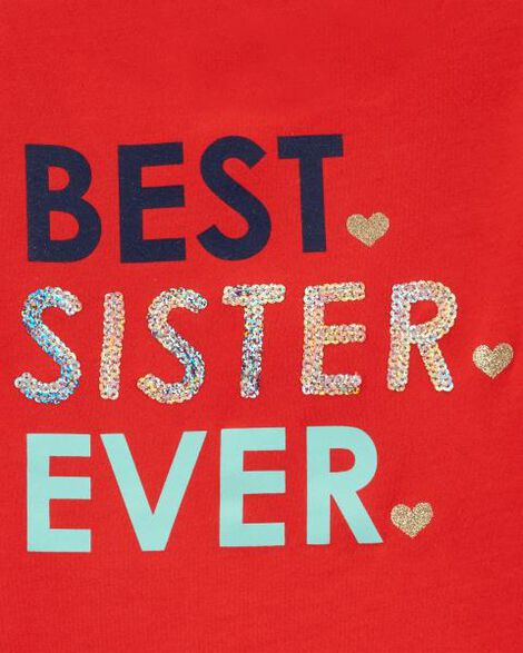 Best Sister Ever Ruffle Tee