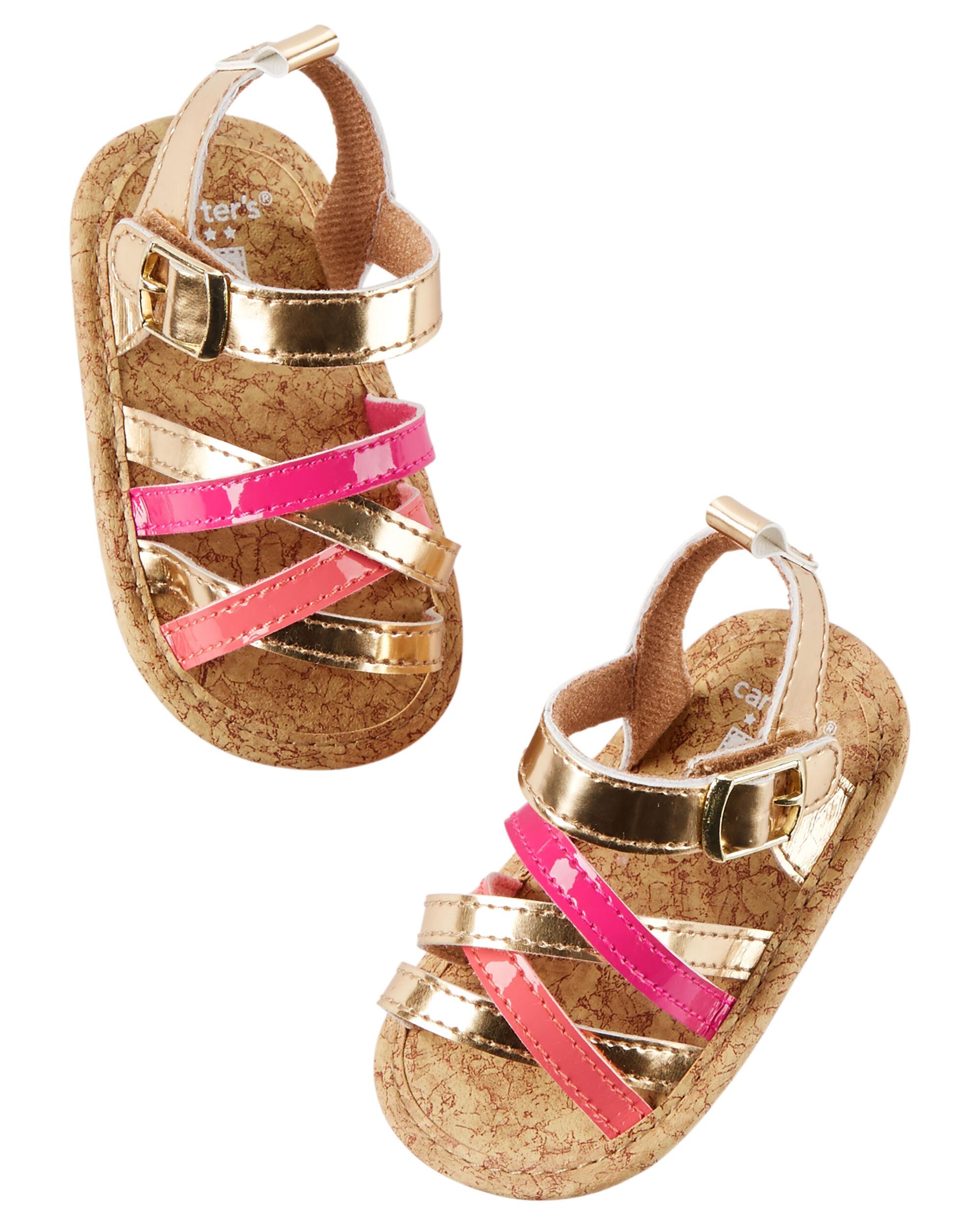 Carter s Strappy Crib Sandals