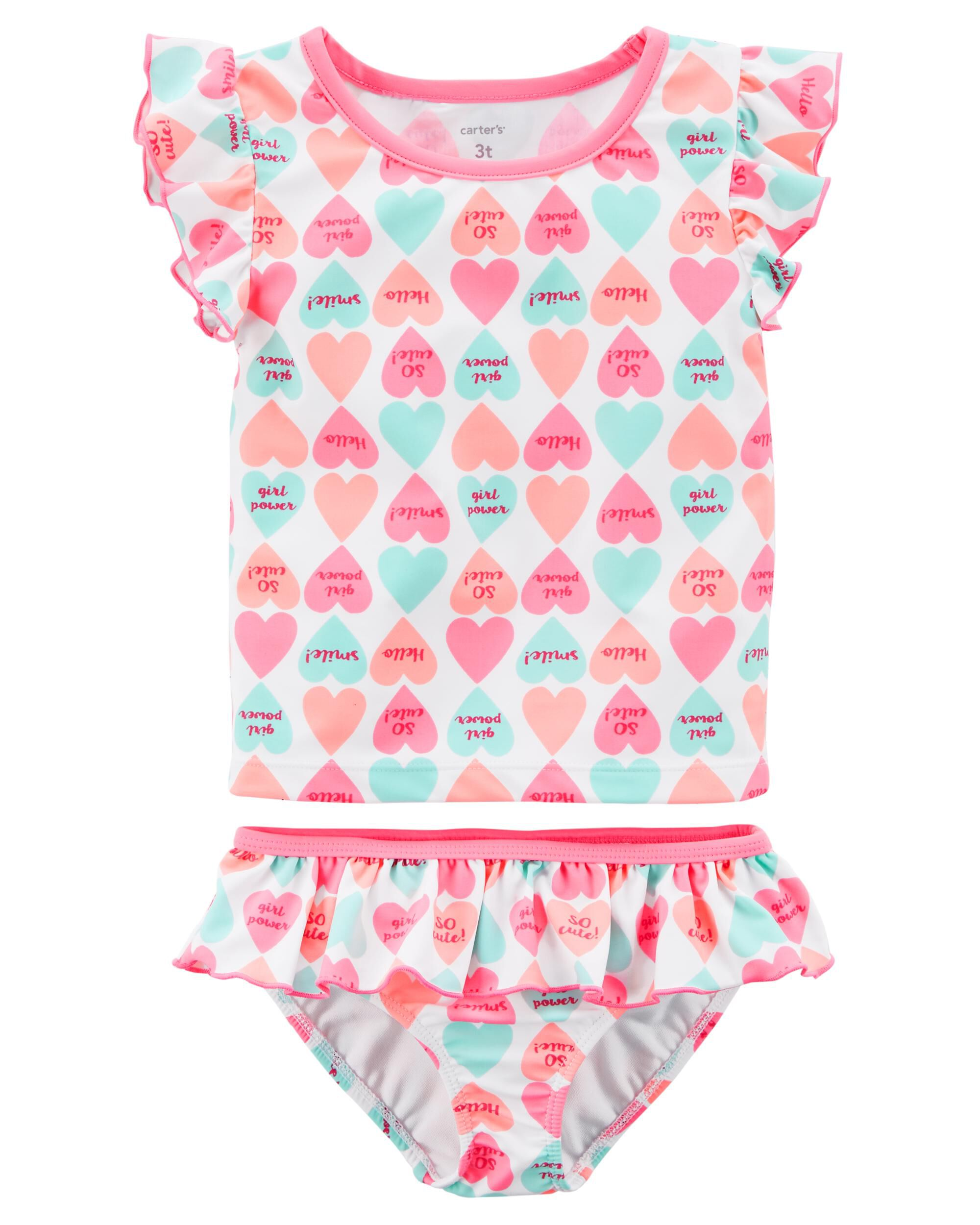 Carter\'s 2-Piece Candy Heart Swimsuit | Carters.com