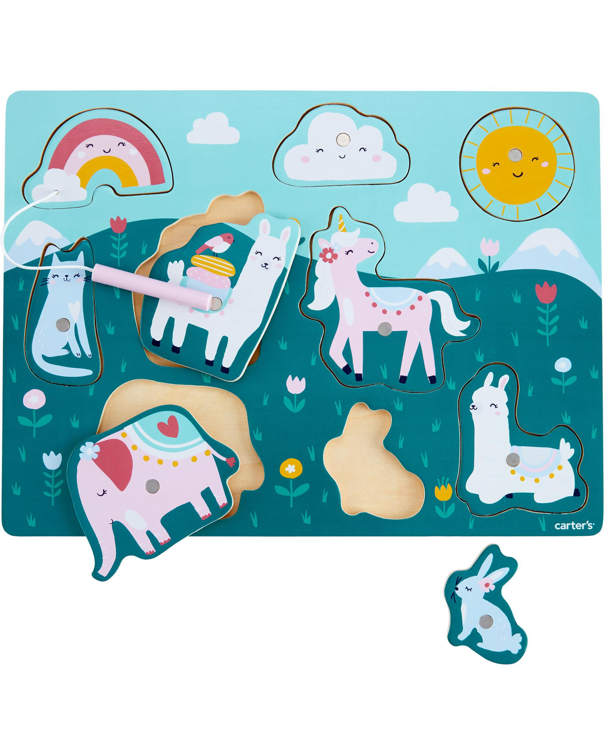 *DOORBUSTER* Animal Wood Magnetic Puzzle