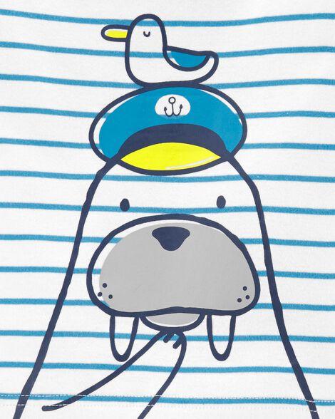 4-Piece Walrus Snug Fit Cotton PJs