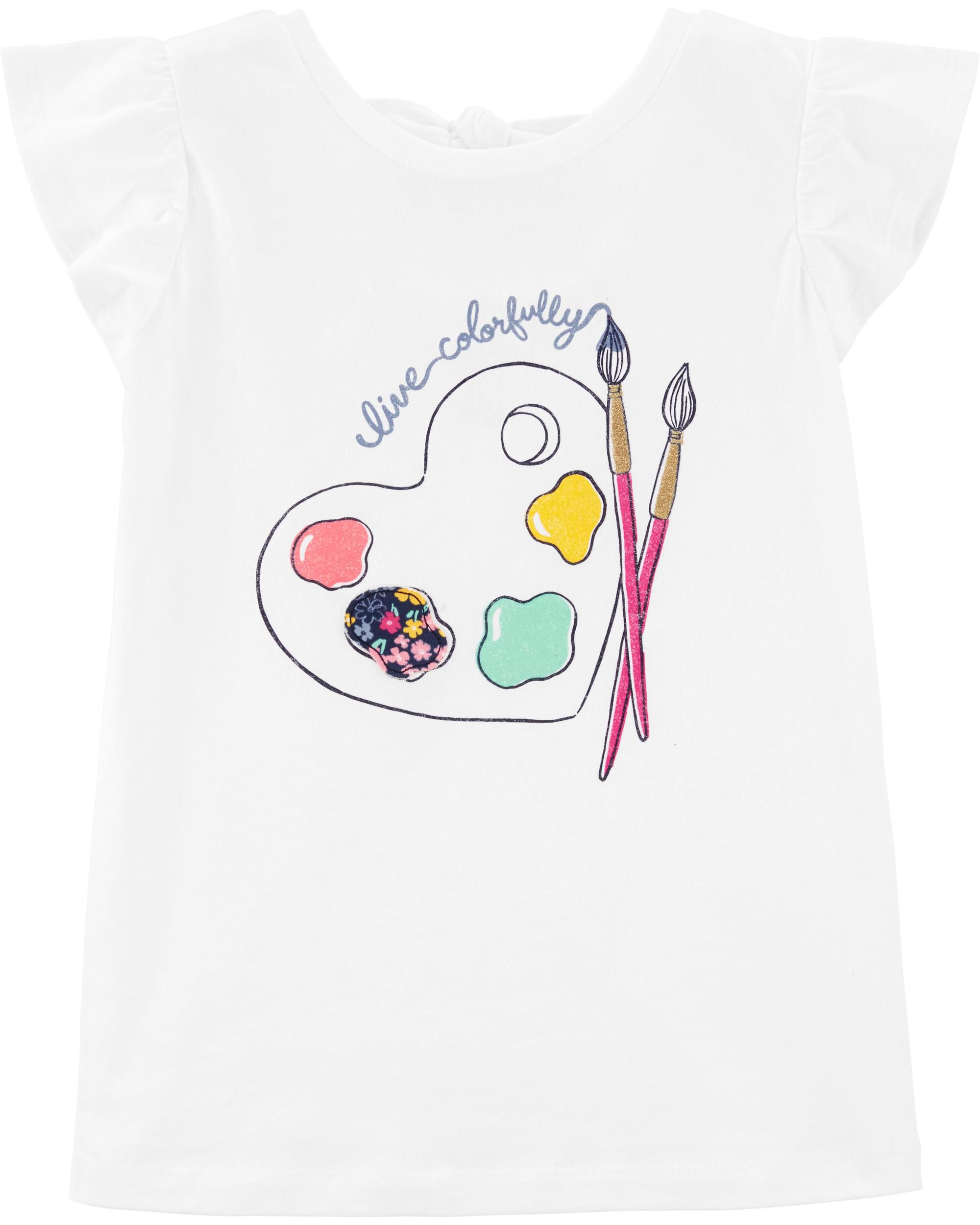 *DOORBUSTER*Live Colorfully Paint Bow Back Tee