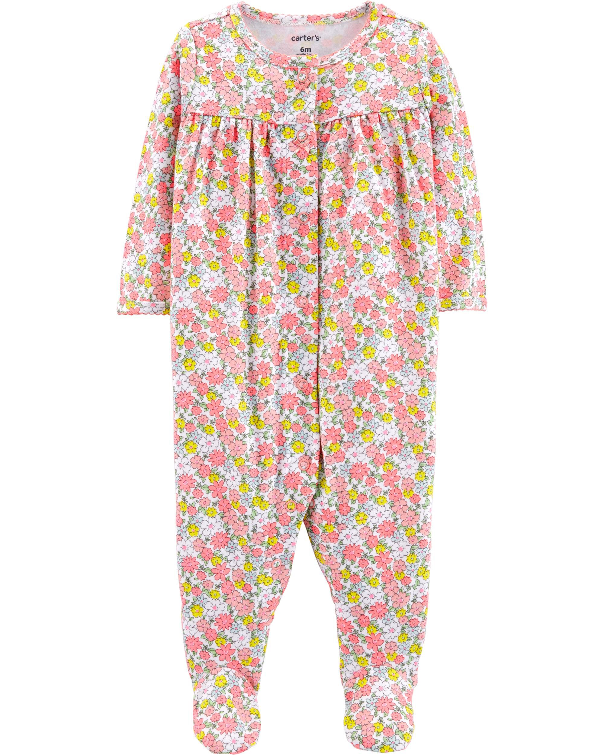 Floral Snap-Up Cotton Sleep \u0026 Play Baby Girl Pajamas | Carter\u0027s Free Shipping