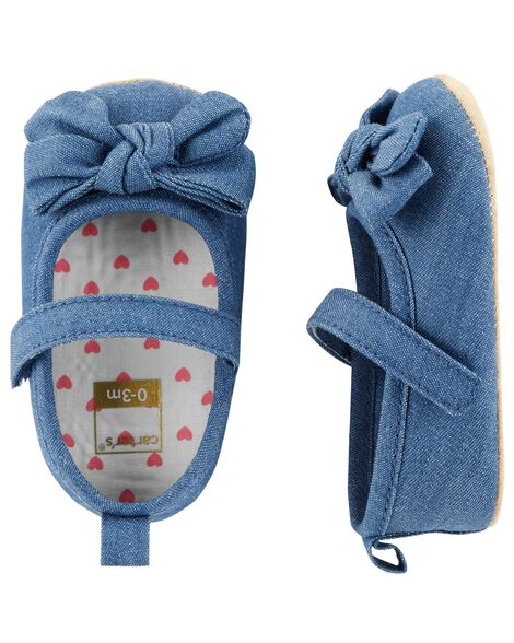 Carter S Chambray Mary Jane Baby Shoes Carters Com