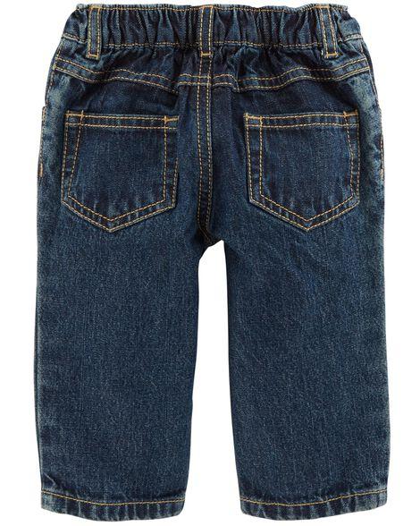 3-Piece Button-Front Flannel & Jean Set
