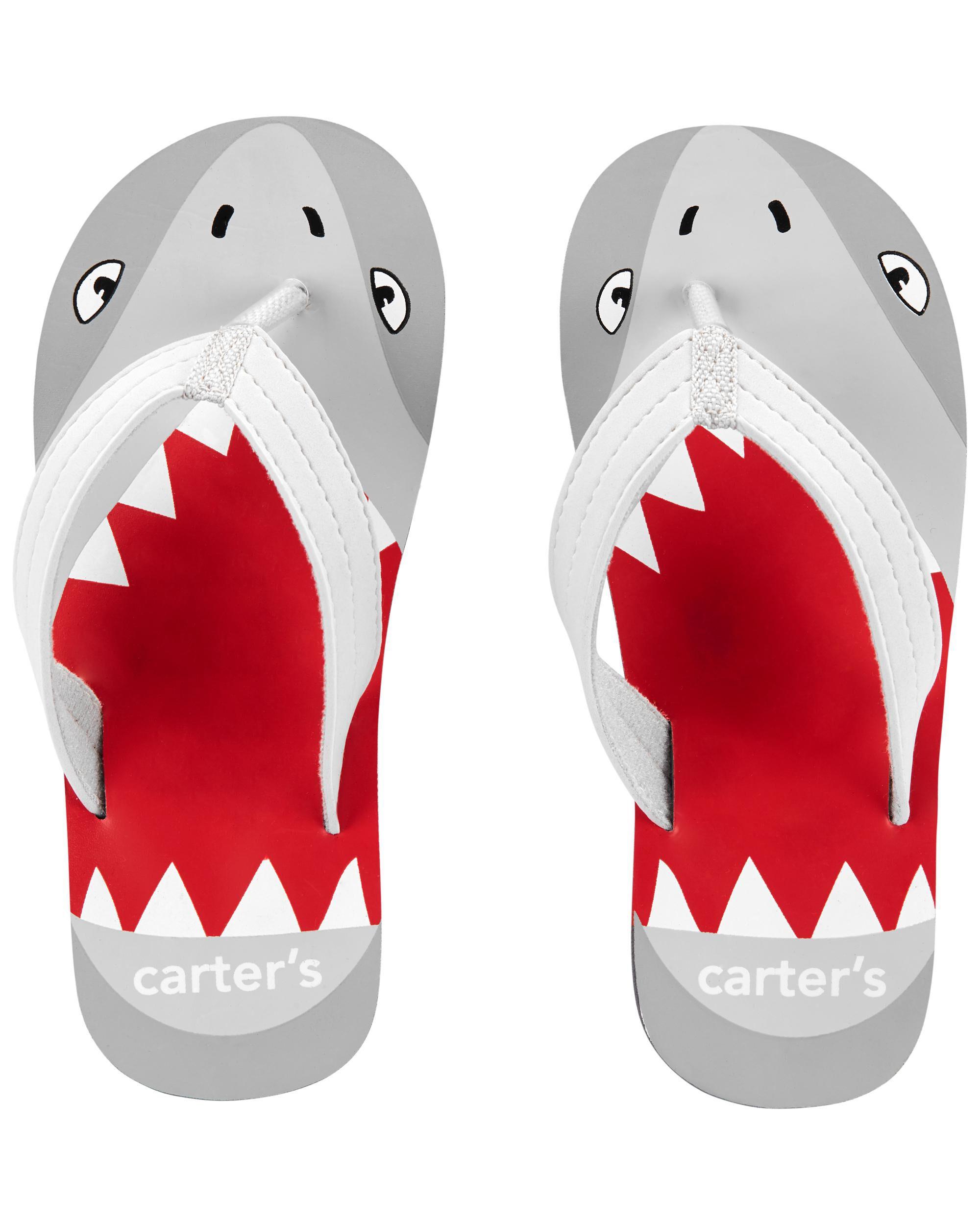Carter's Shark Flip Flops
