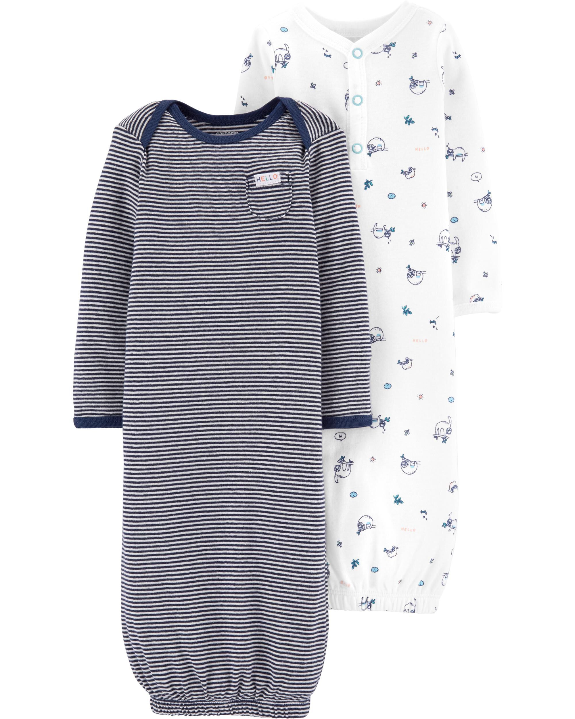 ae5a234fc366 2-Pack Babysoft Sleeper Gowns. Loading zoom