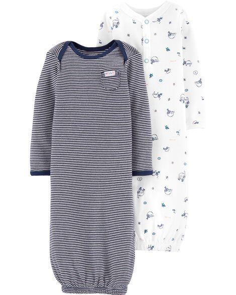 a93165a35475 Baby Boy 2-Pack Babysoft Sleeper Gowns