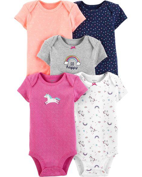 2cc00c005ec4e2 5-Pack Unicorn Original Bodysuits | Carters.com