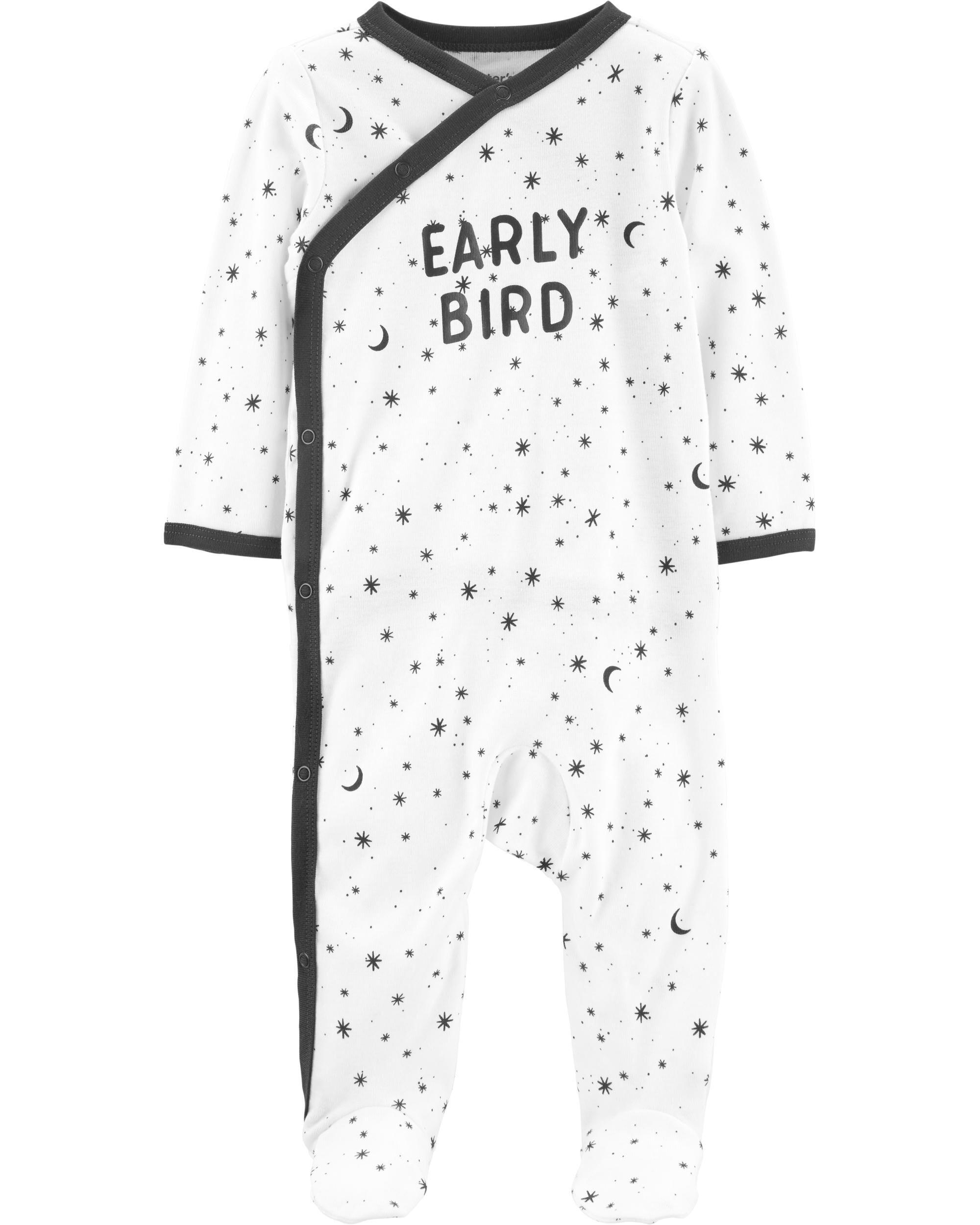 *CLEARANCE* Early Bird Side-Snap Cotton Sleep & Play