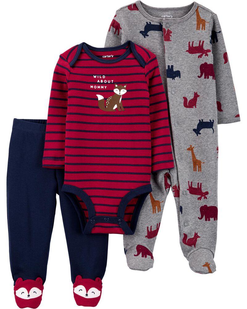 "Baby Boy Carter/'s /""Wild About Mommy/"" Bodysuit Bear Bodysuit /& Pants Set 9m"