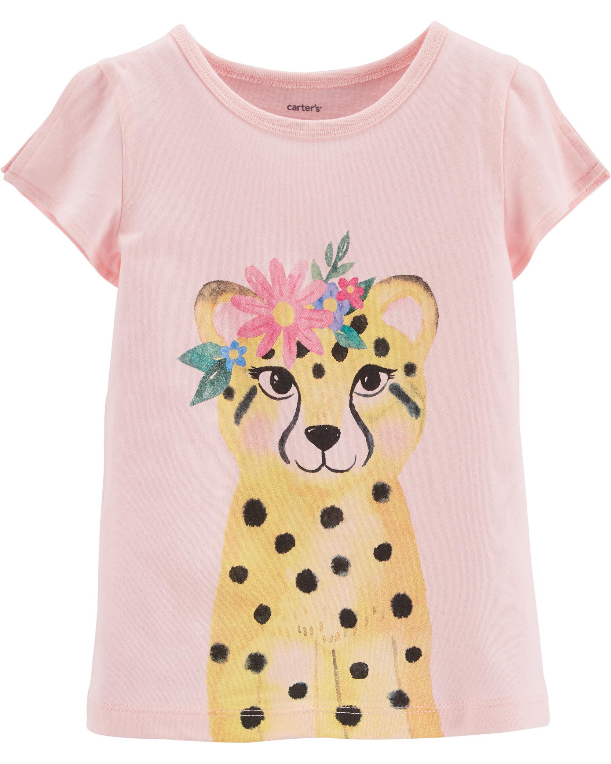 2T, Pink Carters Little Girls Raglan Graphic Tee 4 Ever
