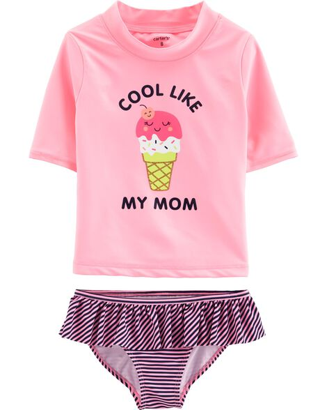 23b1f3ba27 Carter's Ice Cream 2-Piece Rashguard Set | Carters.com