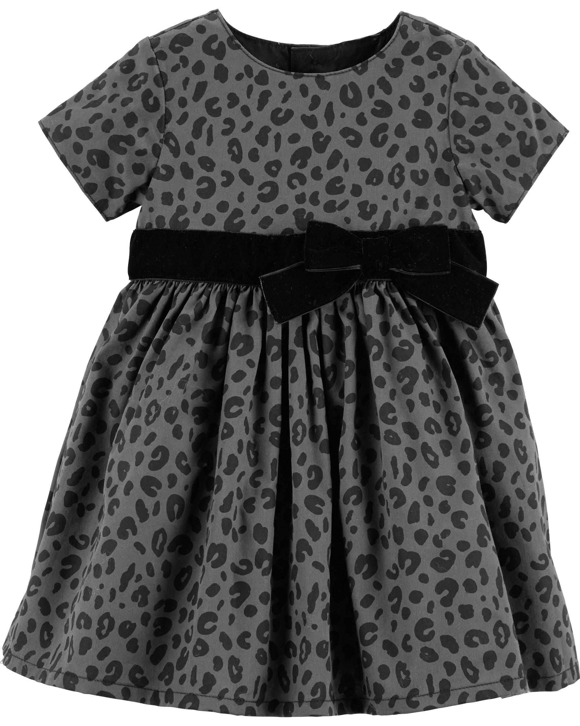 eb4f0e875 Cheetah Print Holiday Dress | Carters.com