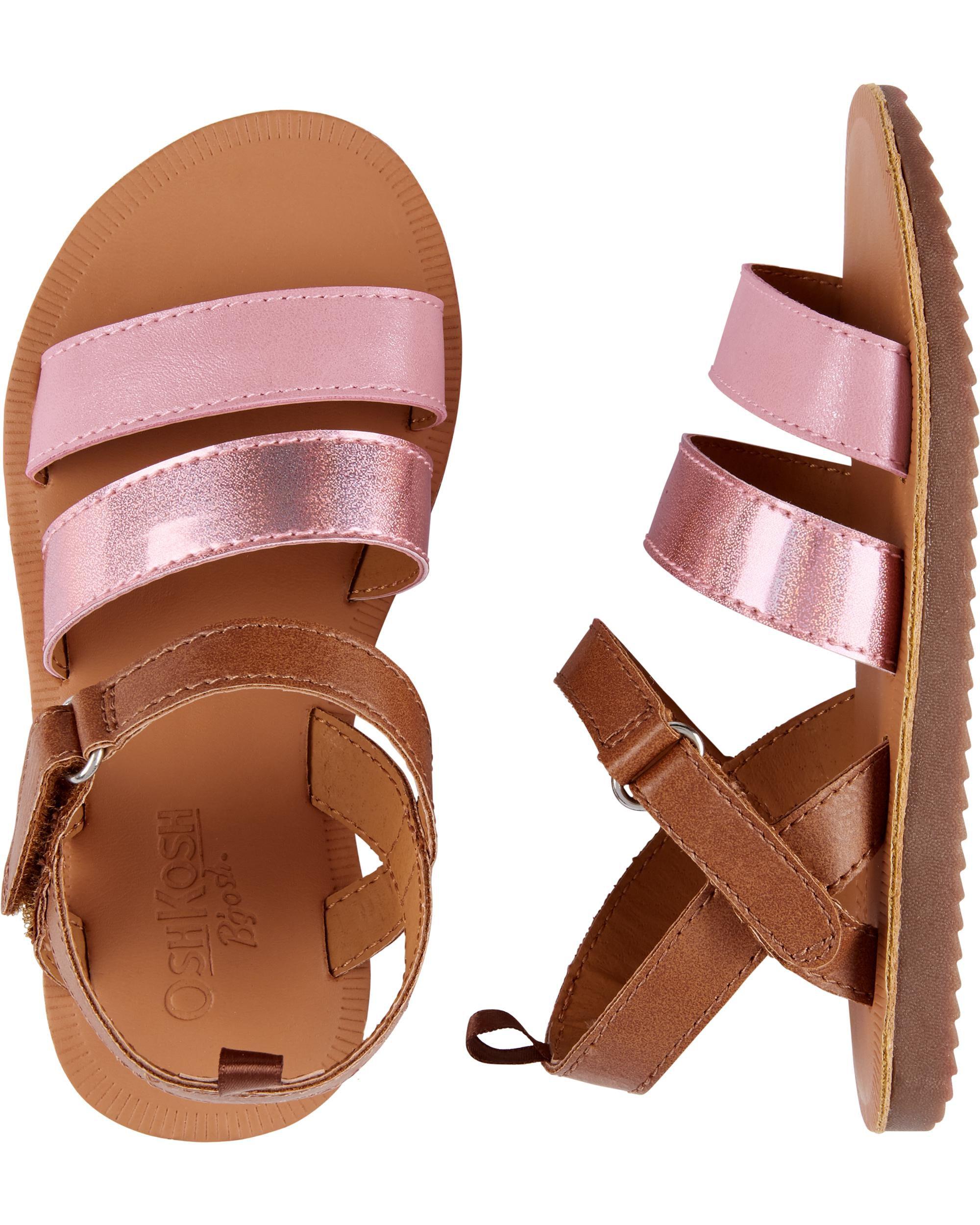 Metallic Pink Sandals | carters.com
