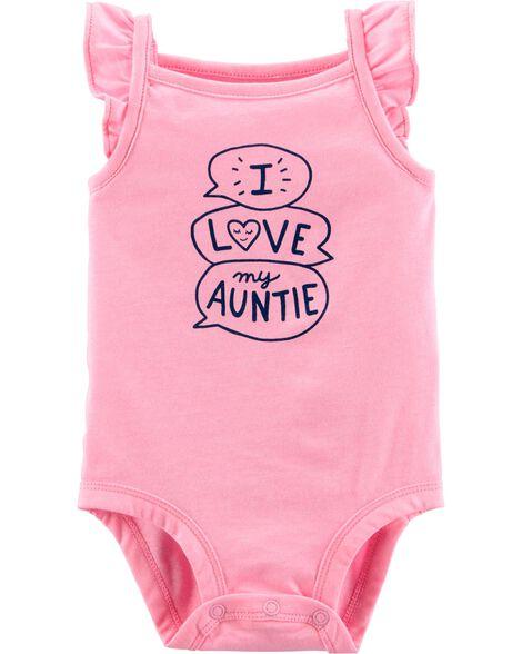 Neon Love My Auntie Tank Collectible Bodysuit