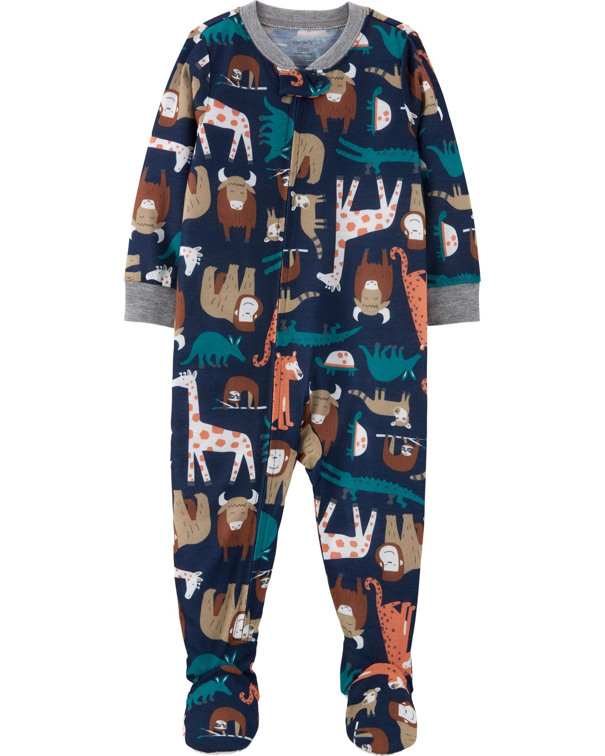1-Piece Animal Poly Footie PJs