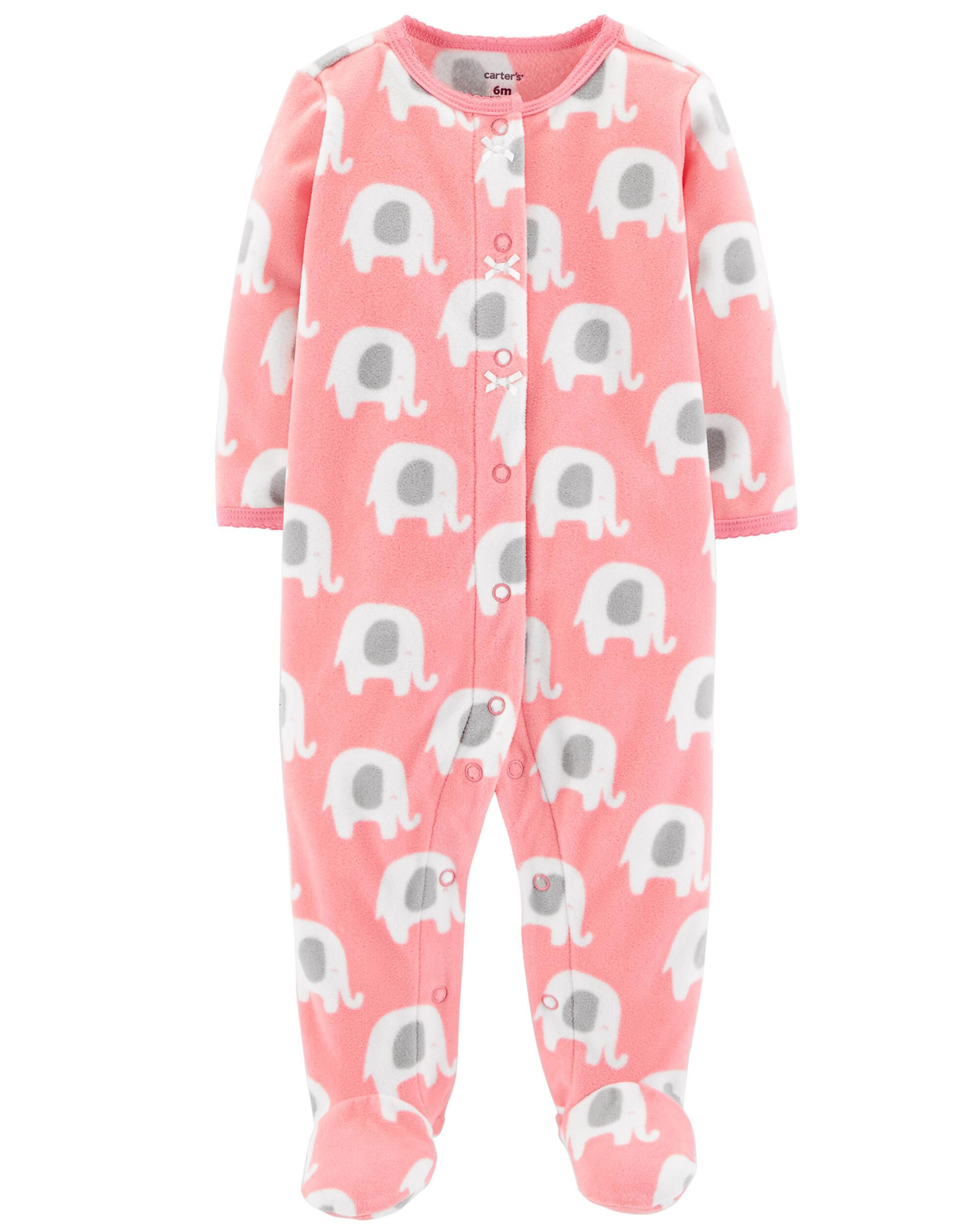 33b5a3142 Elephant Snap-Up Fleece Sleep   Play
