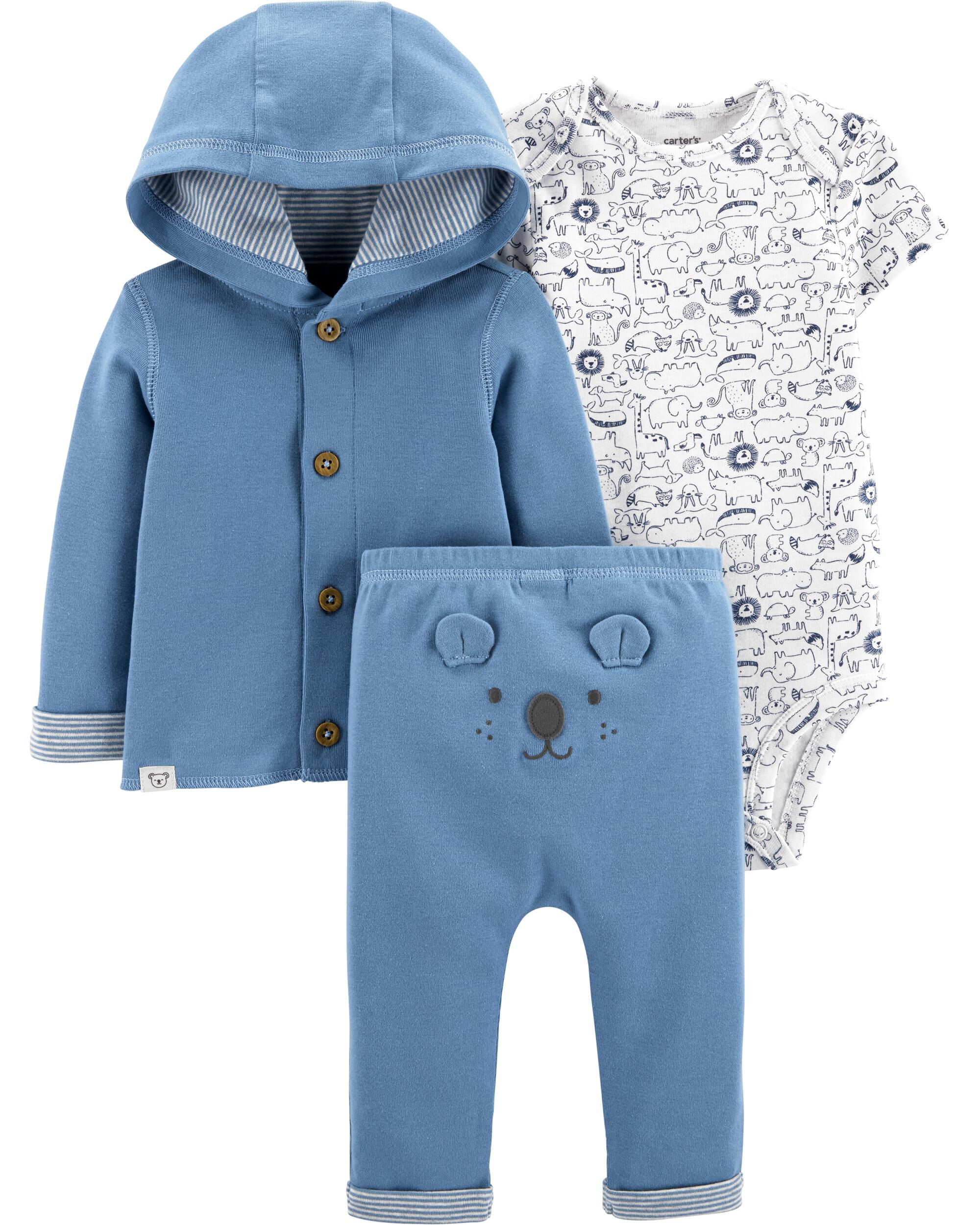 3-Piece Koala Little Cardigan Set
