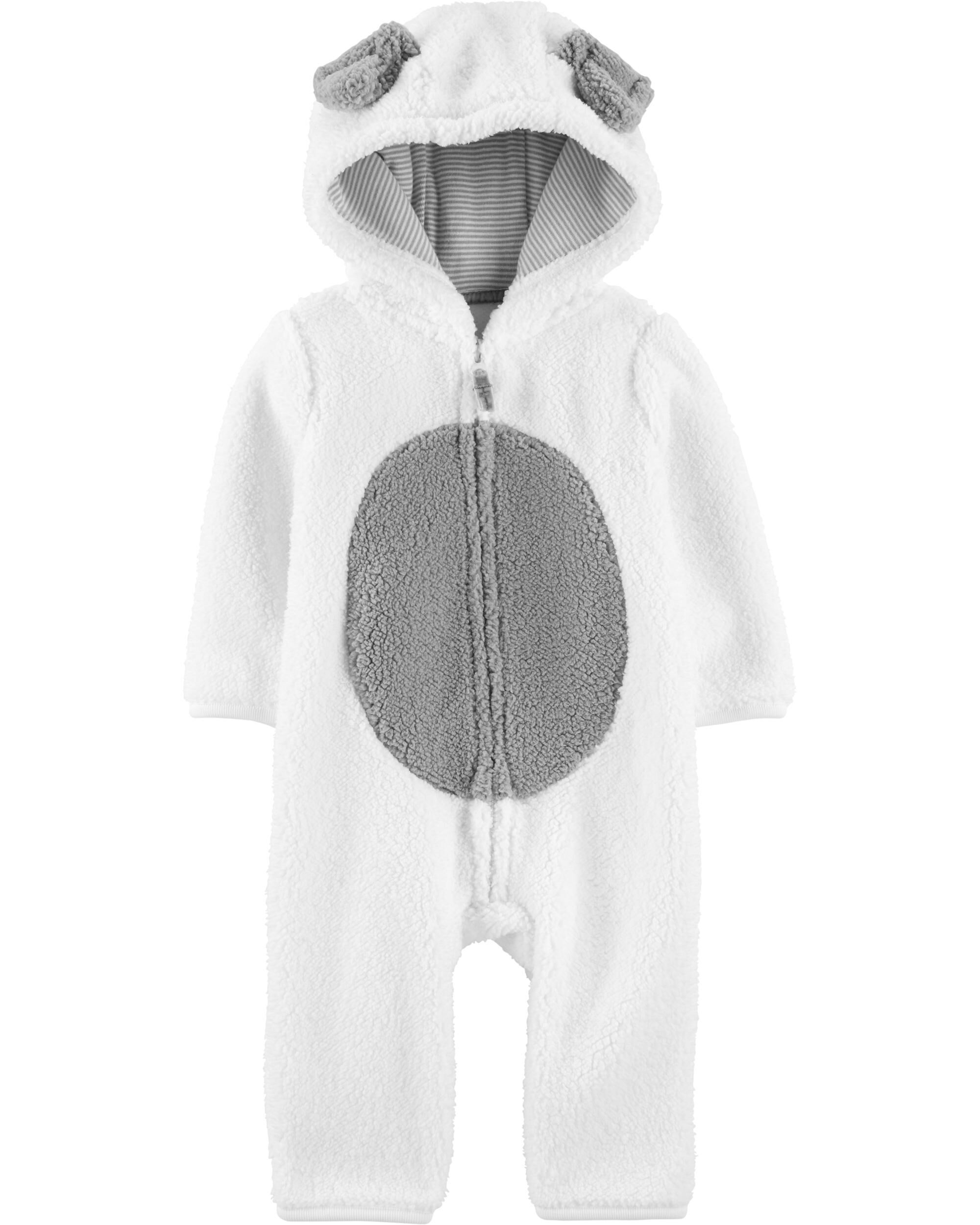 *CLEARANCE* Dog Hooded Sherpa Jumpsuit