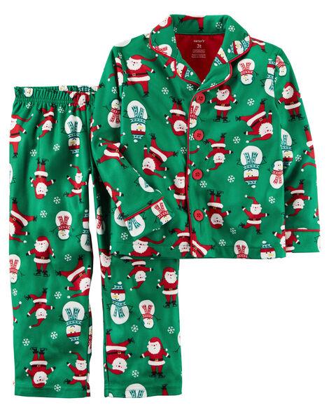 a6e51b917 2-Piece Microfleece Christmas PJs