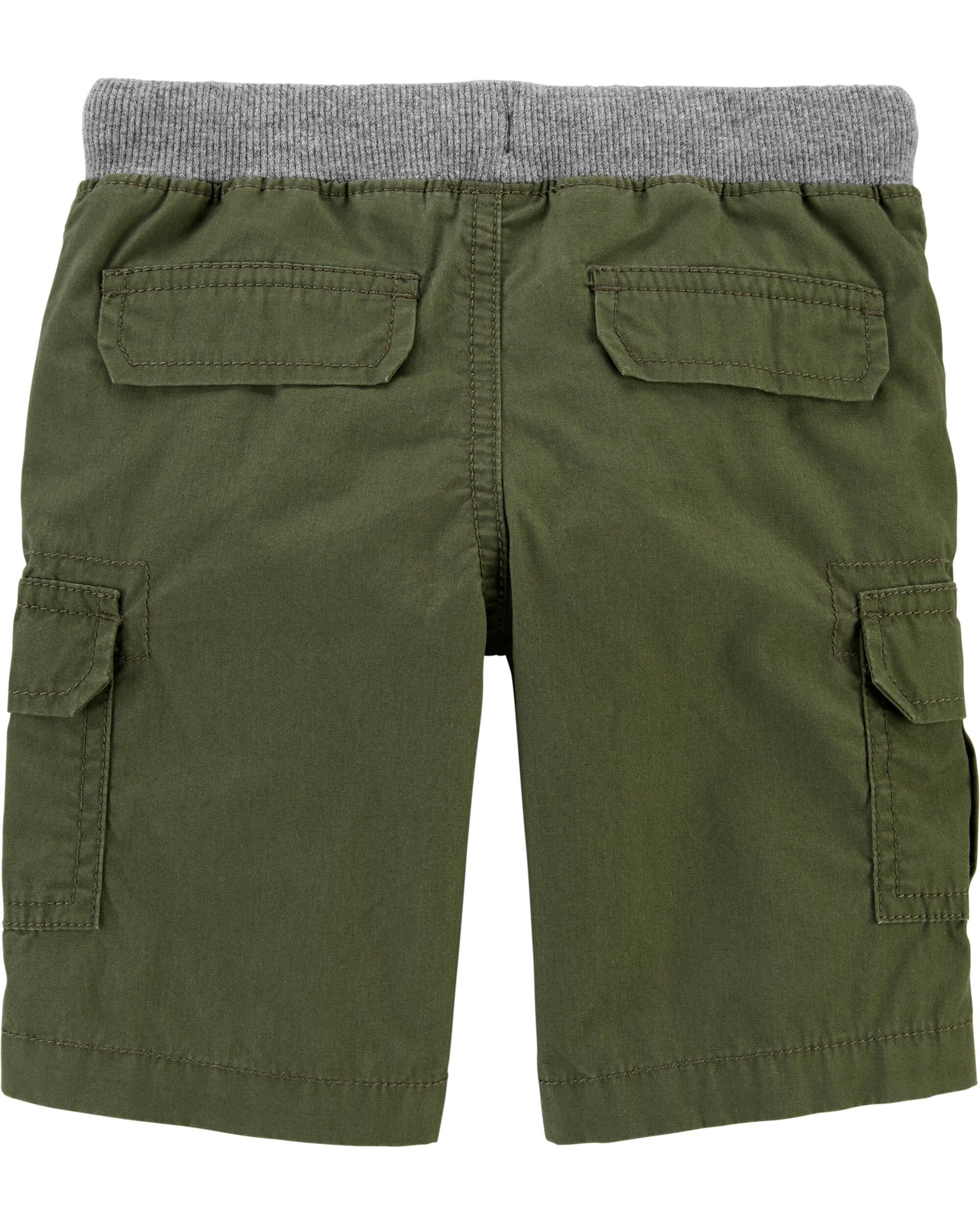 5-Toddler Carters Little Boys Flat Front Shorts Orange