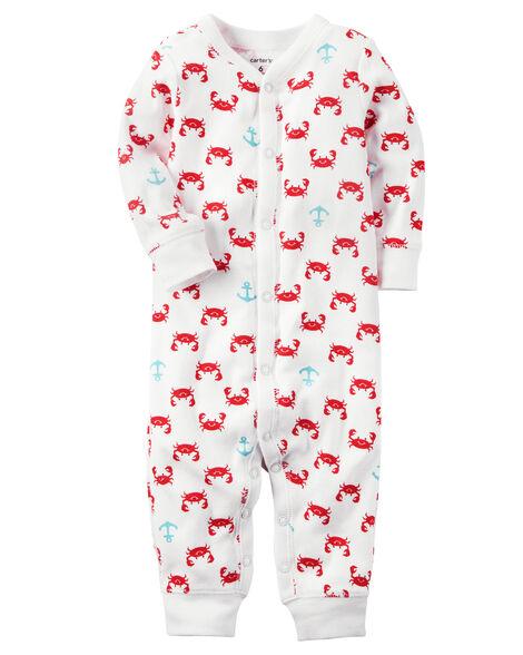 99b1a9a09 Cotton Snap-Up Footless Sleep   Play