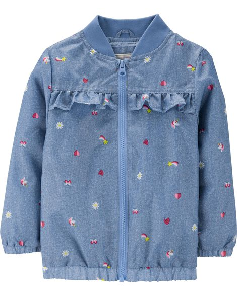 Chambray Schiffli Fashion Jacket
