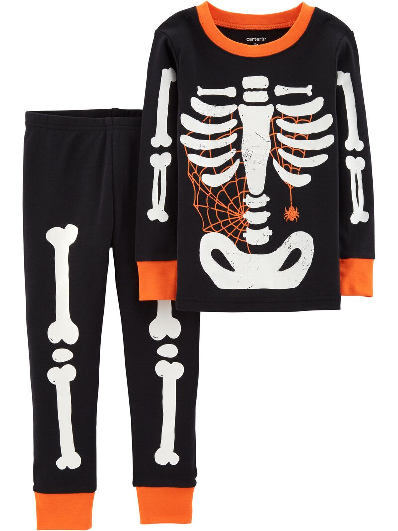 Details about  /NEW Carter/'s 2 Piece Boys PJs Halloween Glow in Dark Skeleton  2T 3T Year