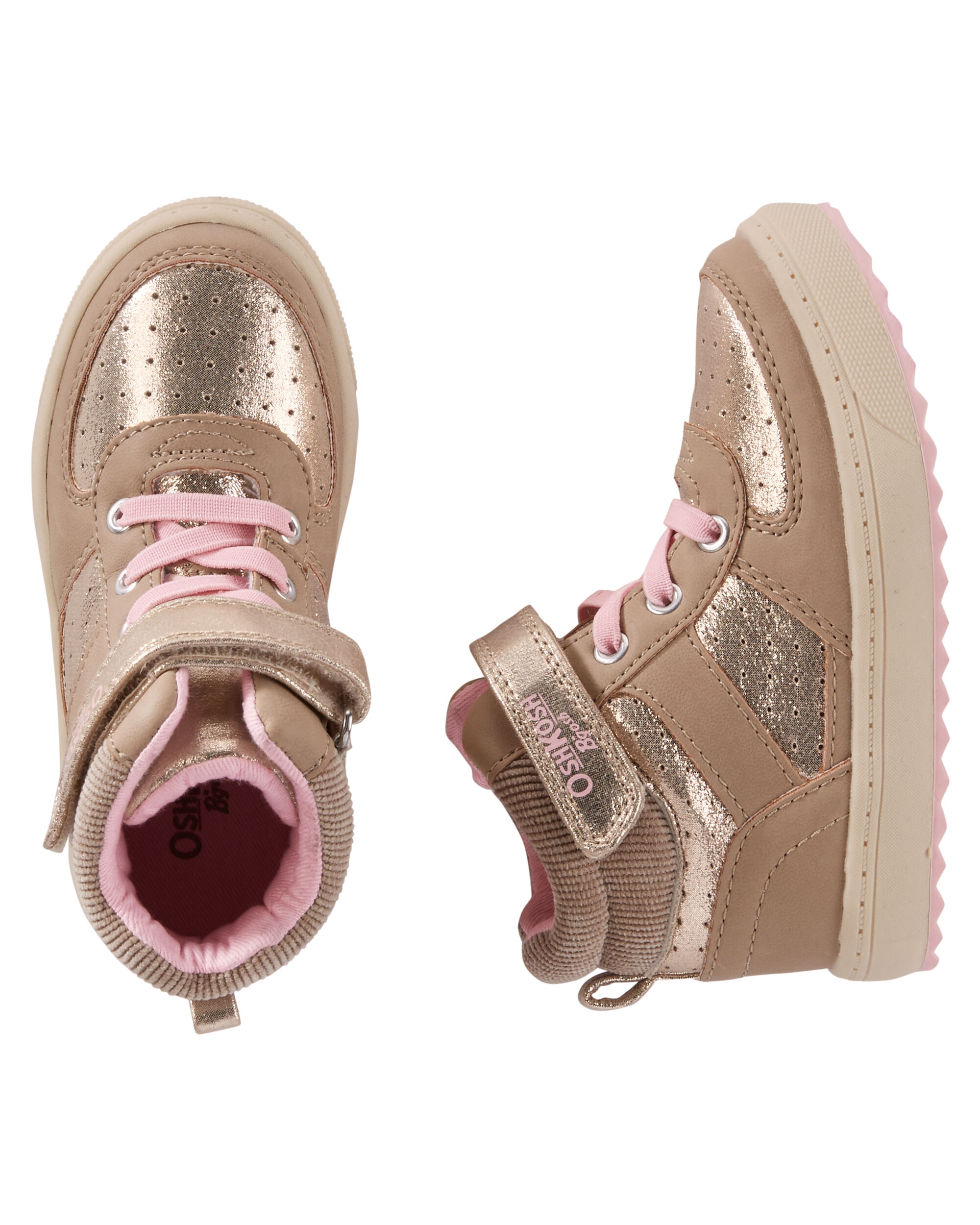 Baby Girl OshKosh Gold Block Sneakers