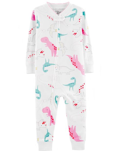 45609c0c0201 1-Piece Certified Organic Cotton Snug Fit Footless PJs
