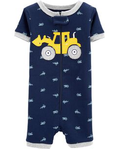 76ad30cb4c 1-Piece Construction Snug Fit Cotton Sleep Romper