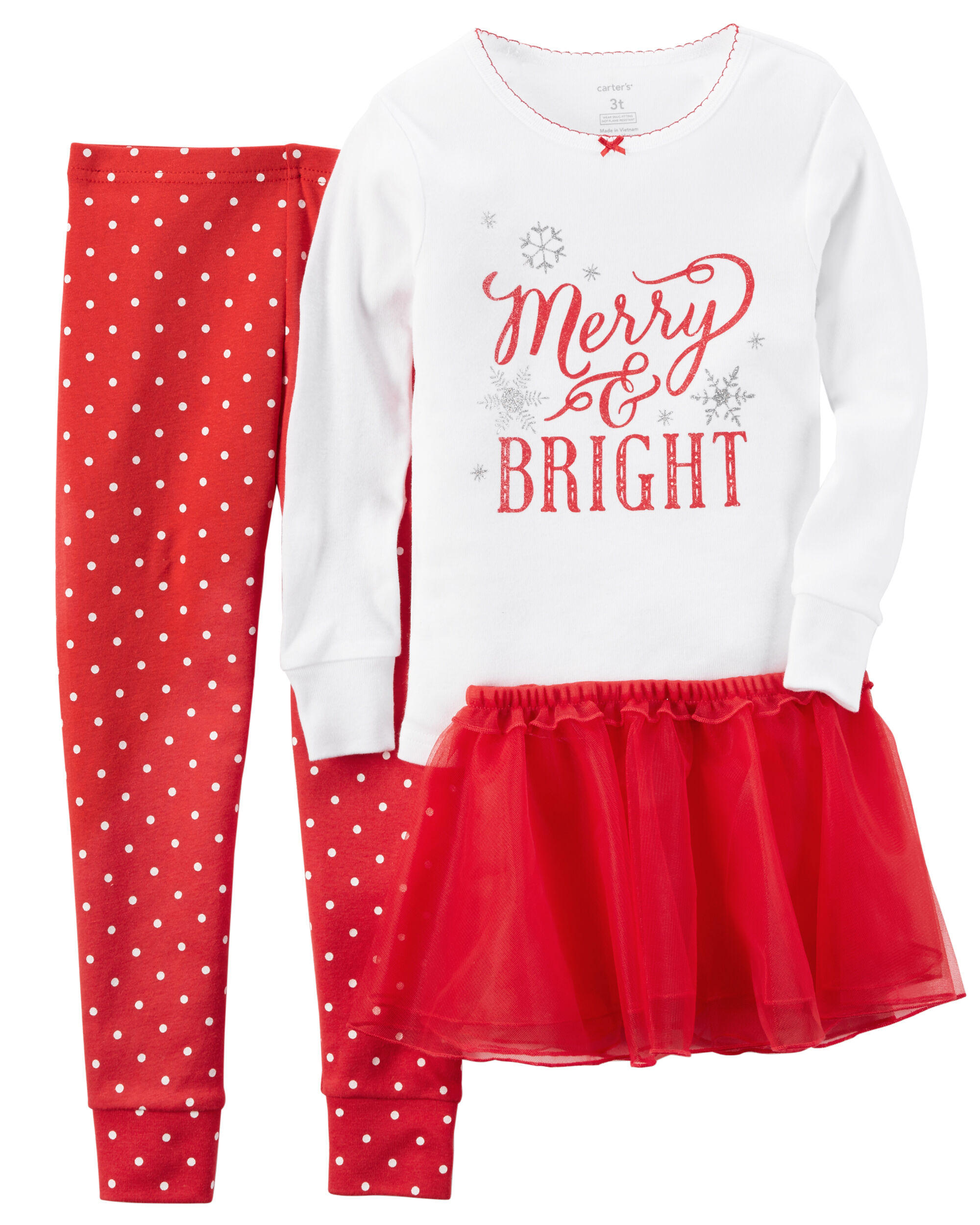 2 piece snug fit cotton christmas pjs tutu carters com