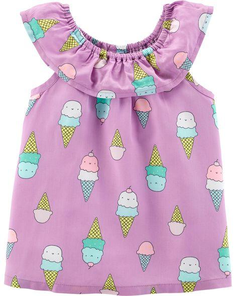Ice Cream Scoop Neck Top