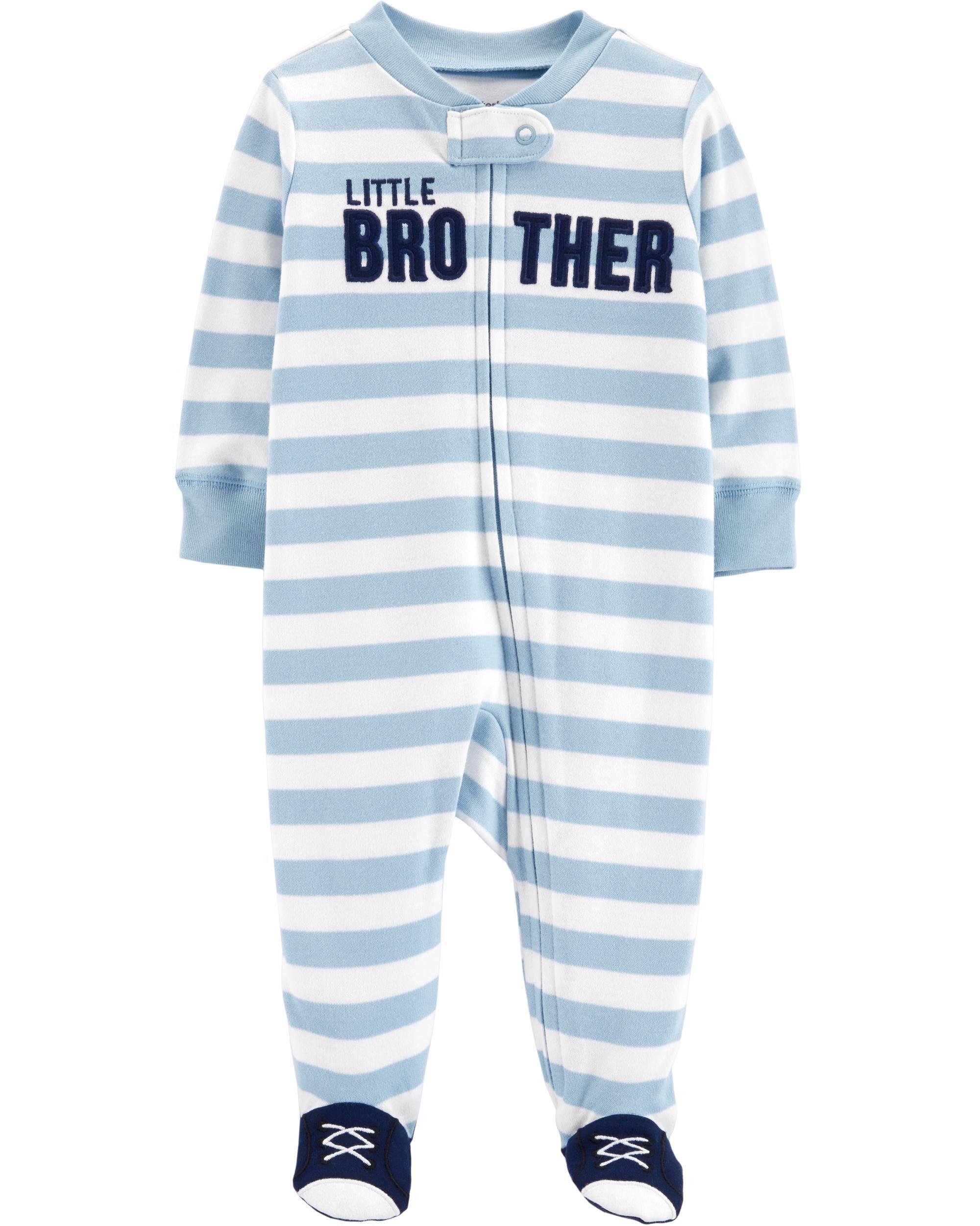 598ecfc12 Little Brother Zip-Up Cotton Sleep & Play | Carters.com