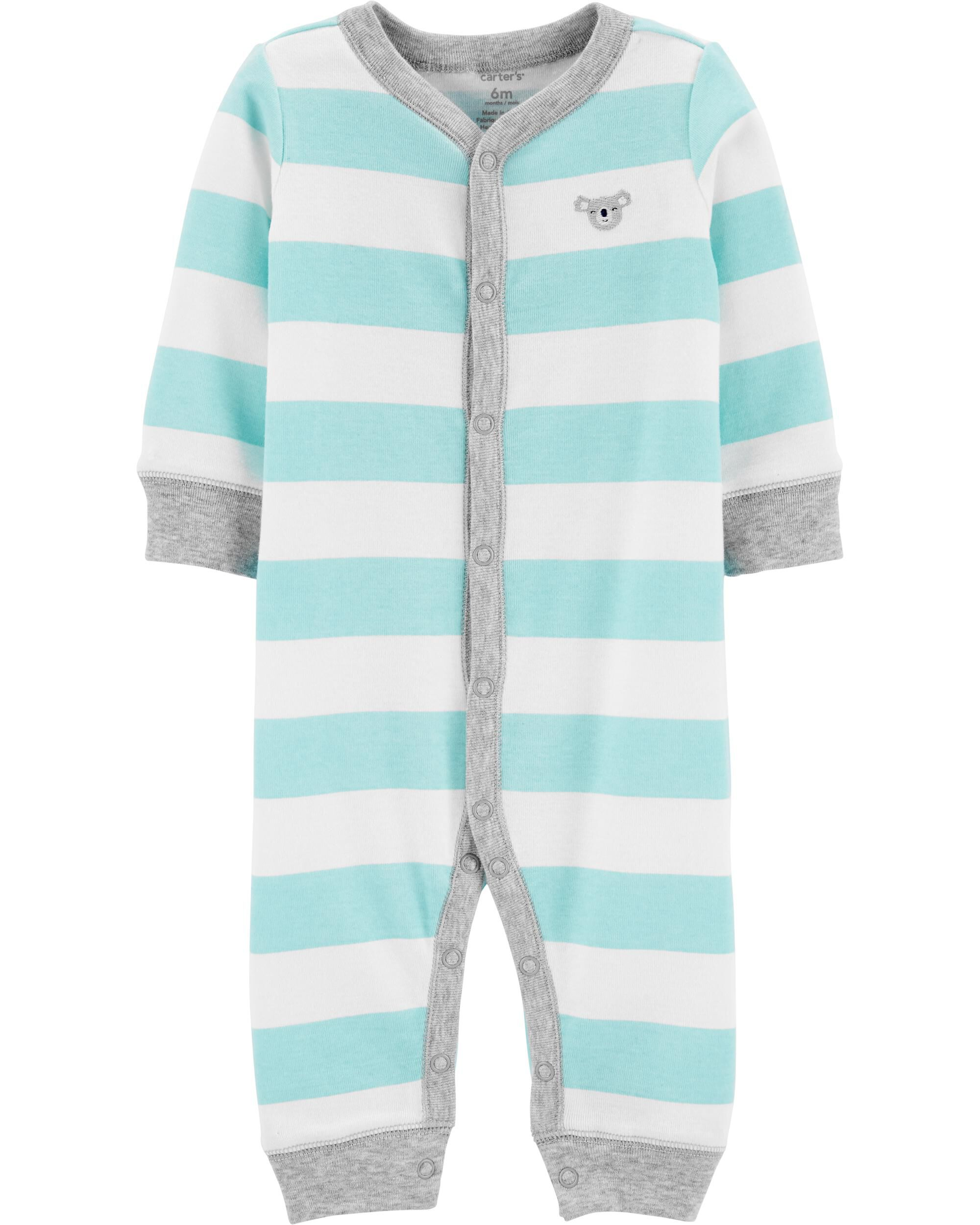 Boy/'s Preemie Football Orange Navy Striped Sleeper Outfit NEW NWT $16 Cotton