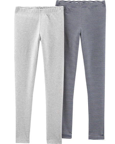2-Pack Striped Leggings