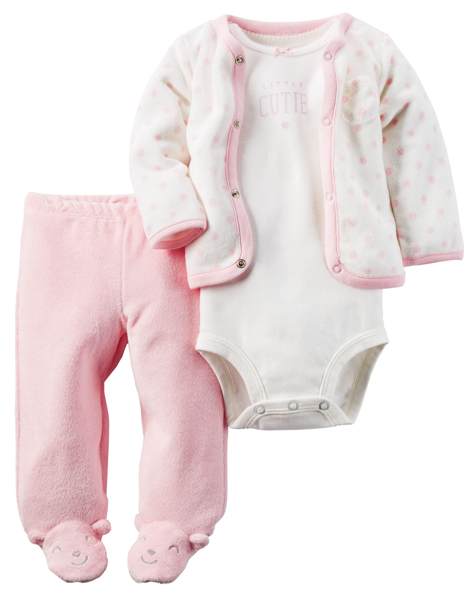 3 Piece Terry Footed Pant Set Carters Com