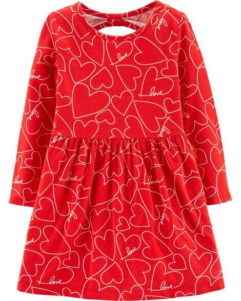 659343a5 Heart Jersey Dress | Carters.com