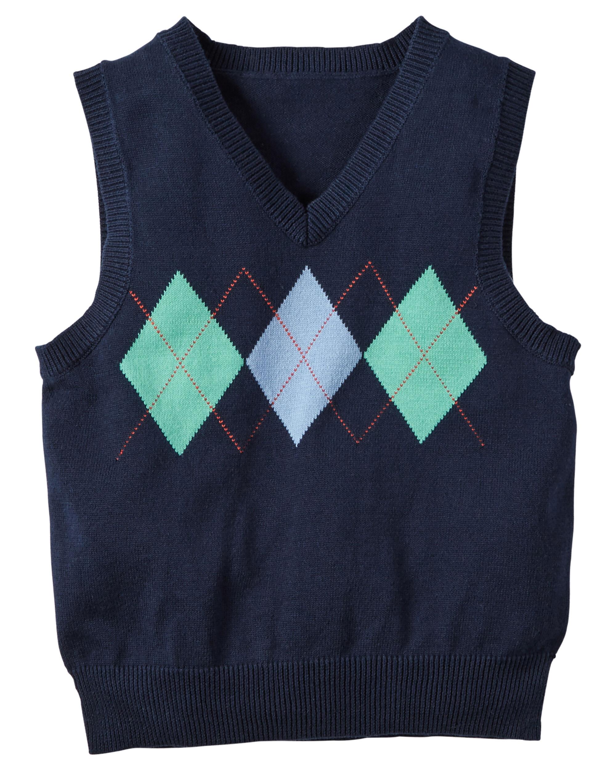 Argyle V-Neck Sweater Vest | Carters.com