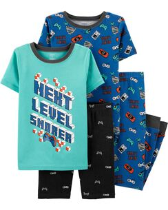 d6efe77a855f 4-Piece Gamer Snug Fit Cotton PJs