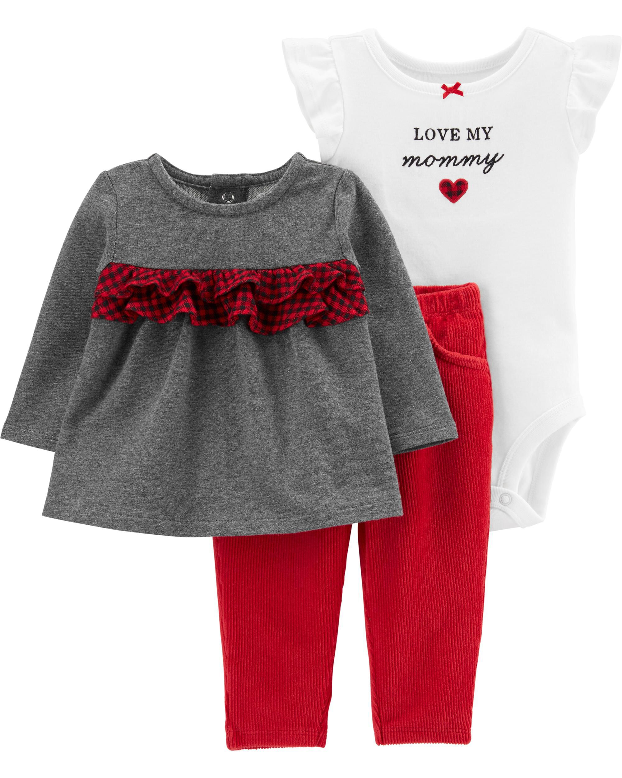 *CLEARANCE* 3-Piece Holiday Bodysuit & Pant Set