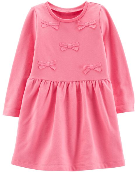 Bow French Terry Dress