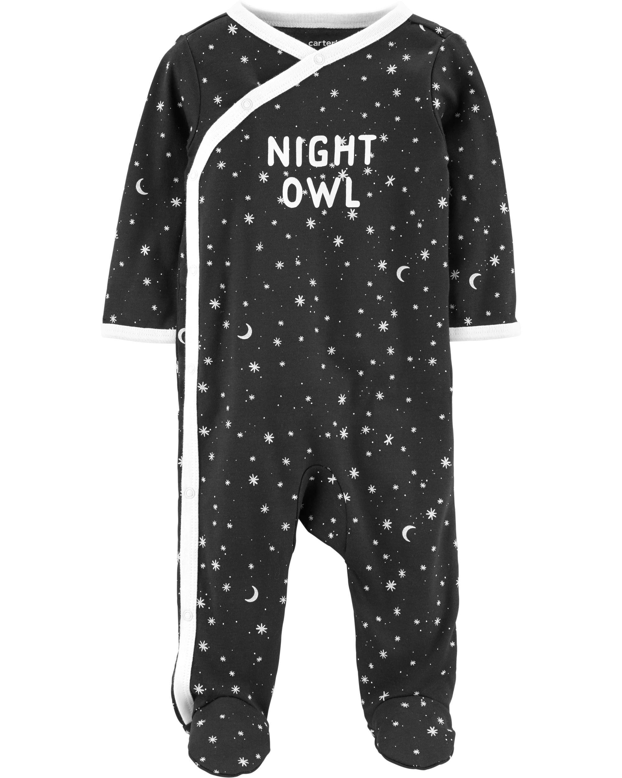 *CLEARANCE* Night Owl Side-Snap Cotton Sleep & Play