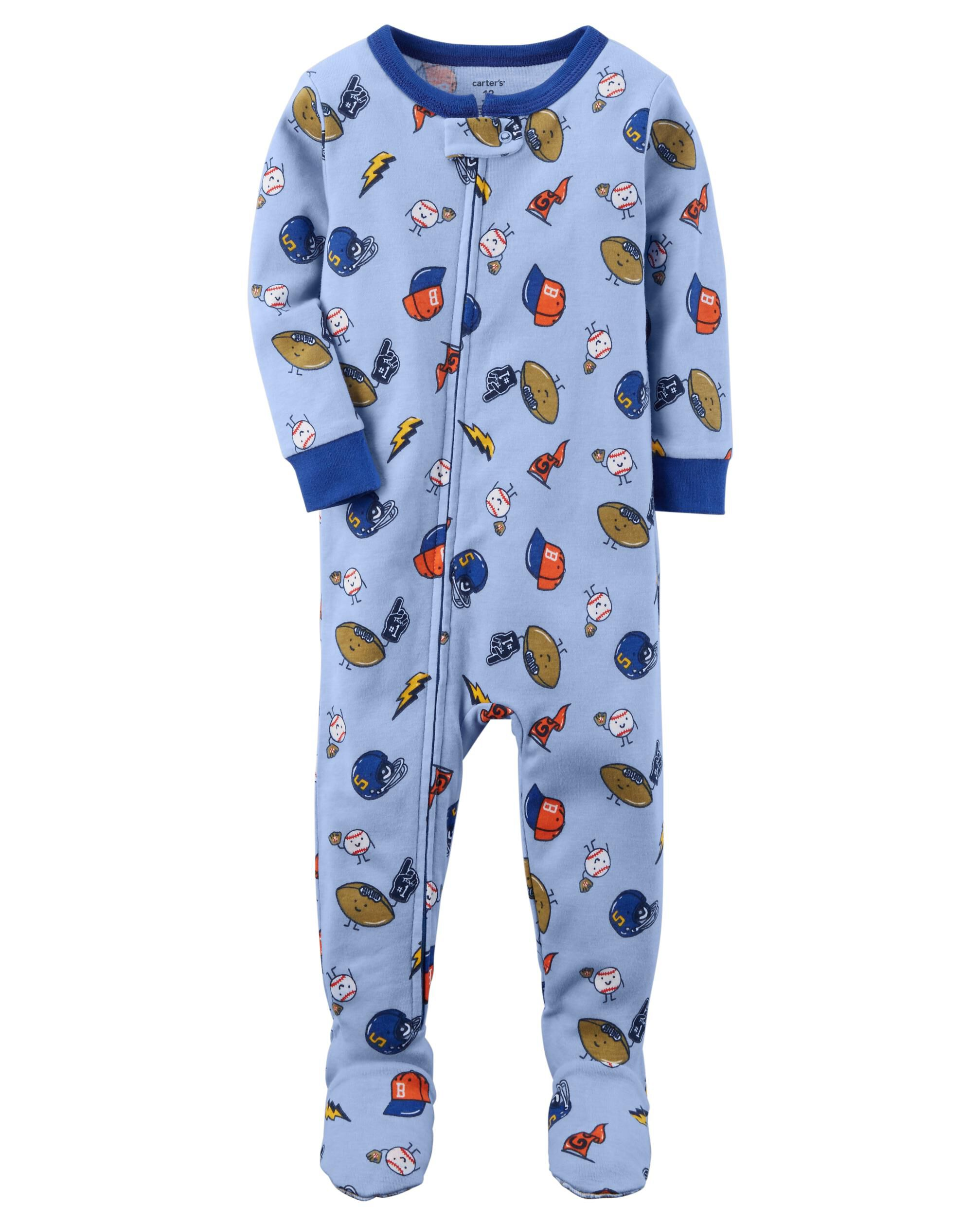 toddler boy pajamas sleepwear carter s shipping 1 piece sports snug fit cotton pjs