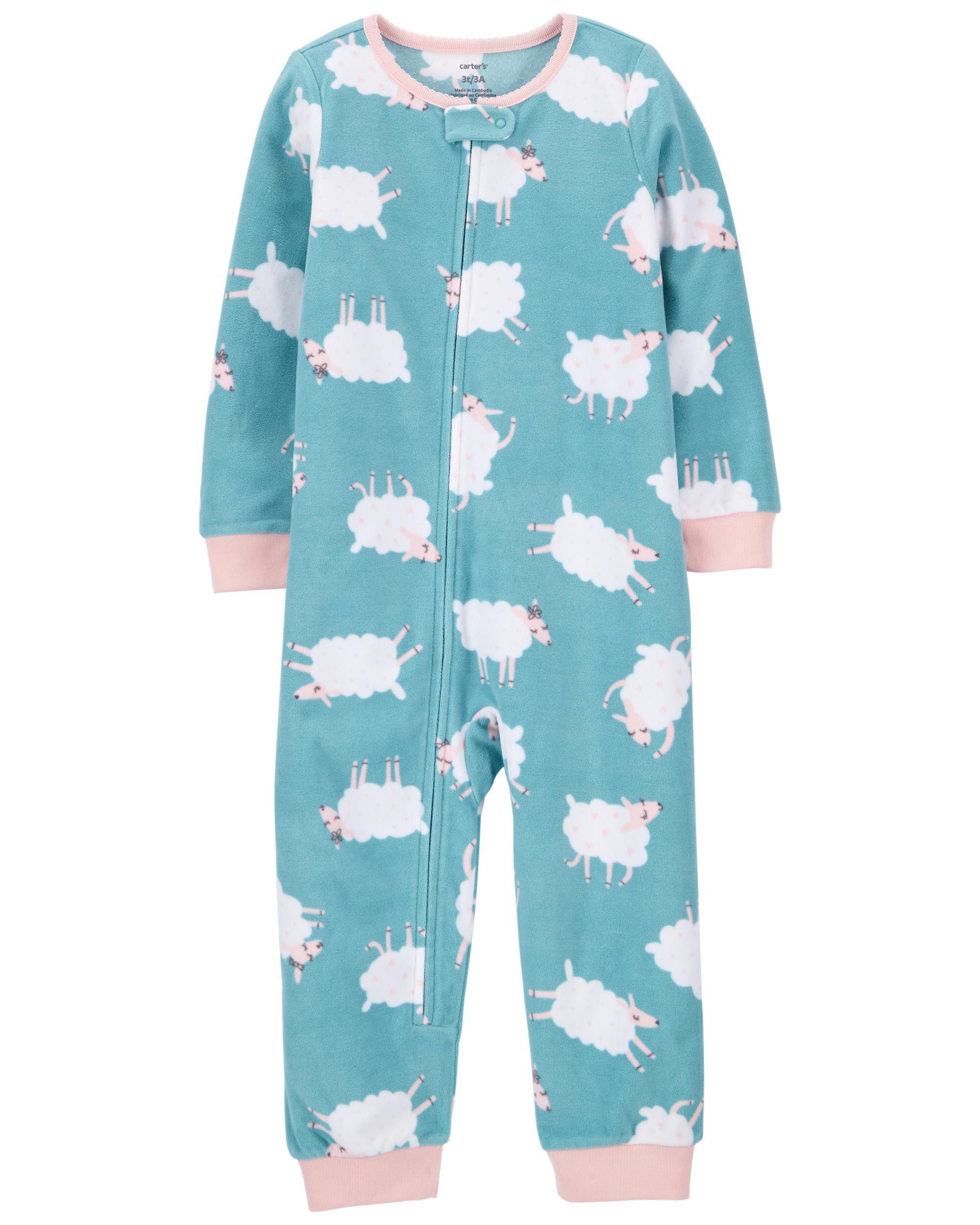 *CLEARANCE* 1-Piece Sheep Fleece Footless PJs